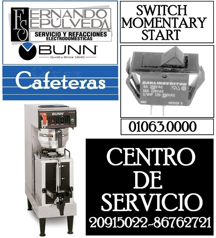 Switch on/of Cafetera BUNN Switch, Momentary Start 01063.0000