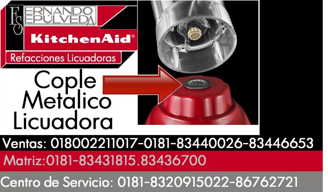 COPLE METALICO PARA LICUADORA KITCHENAID