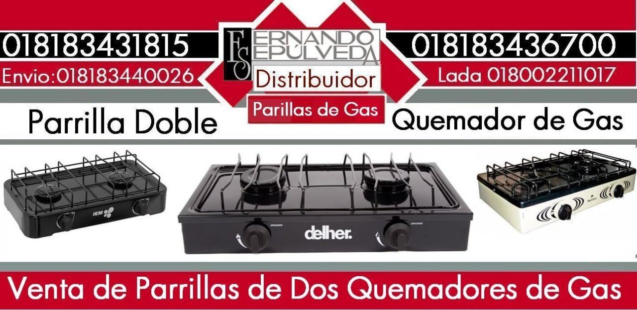 PARRILLAS DOBLES DE GAS PORTATILES