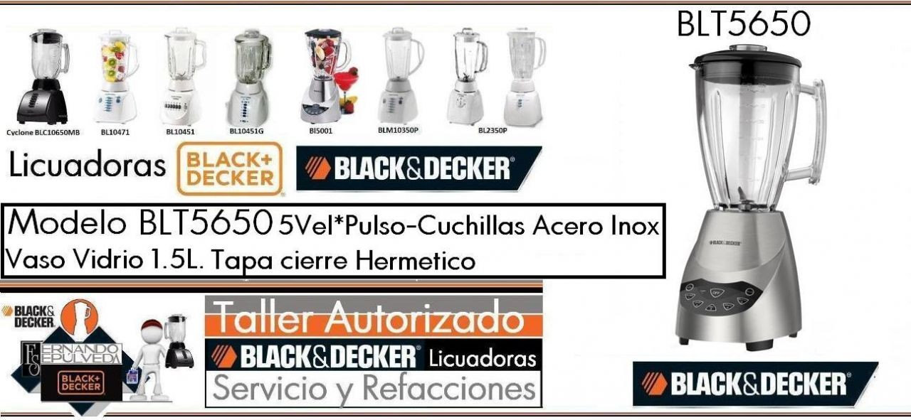 PARTES Y SERVICIO LICUADORAS  BLT5650 BLACK AND DECKER