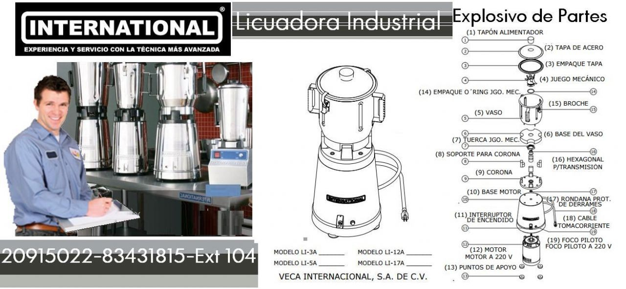 Diagrama de Licuadora Industrial International